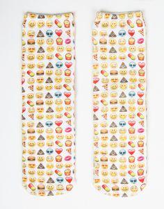 Emoji Crew Socks