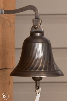 The spiral design of this Solid Brass Dinner Bell adds will add an eye-catching focal point to your home. Complete with a wall mount bracket, this home accent can be mounted in your kitchen or on your porch and comes in variety of finishes to perfectly match your home decor.