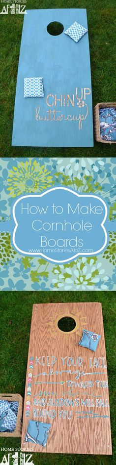 Tutorial on how to make and paint cornhole boards. Great family tailgate game or basement game.