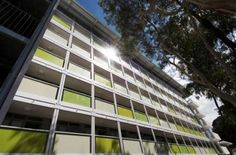 Australia''s largest building made from shipping containers opens at Canberra''s Australian National University.