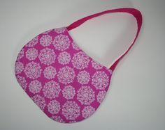 Little Girl Purse / Pink on Pink with White Floral Print. Get it at my shop for $12.00