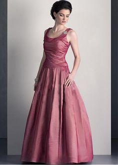 Buy discount Gorgeous Taffeta A-line Scoop Neckline Full Length Mother of the Bride Dress at Dressilyme.com