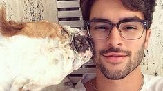 middle eastern hot male models | Hot dudes with dogs is the new Instagram account we love