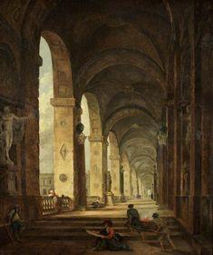 The Athenaeum - A Capriccio of Roman Architecture (Hubert Robert - )