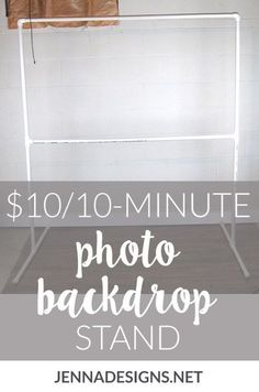 """I've seen a lot of tutorials on how to DIY your own backdrop stand out of PVC pipe, so I grabbed my trusty notebook and drew up a quick sketch of what I'd need."" How to make your own DIY photo backdrop stand for weddings, showers, and birthday parties. Photo Backdrop Stand, Pvc Backdrop, Picture Backdrops, Backdrop Frame, Photography Backdrop Stand, Diy Wedding Backdrop, Photography Props, Backdrop Ideas, Bridal Shower Backdrop"