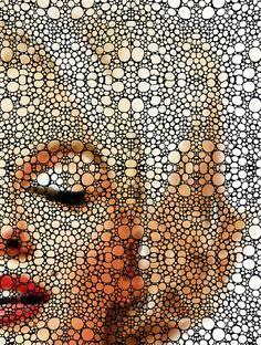 Marilyn Monroe - Stone Rock'd Art Painting Art Print - ✯ http://www.pinterest.com/PinFantasy/gente-~-marilyn-monroe-art/