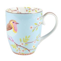 Pip Studio - Early Bird Mug - Blue - Large