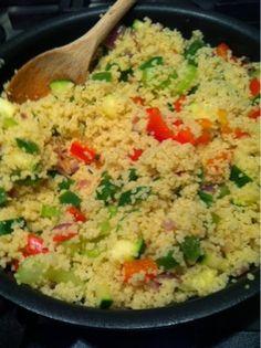 Carry's Kitchen: Recept: Couscous met gebakken groenten