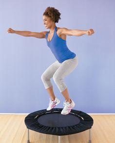 Fun workout on a trampoline.
