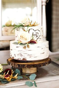 24 Must-See Rustic Woodland Themed Wedding Cakes ❤ Woodland themed wedding cakes…