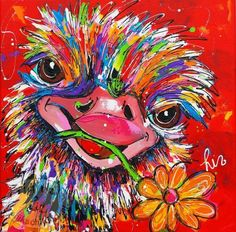 43 Ideas Drawing Cute Animals Flower For 2019 Cross Paintings, Your Paintings, Collage Kunst, Diy Crystals, 5d Diamond Painting, Arte Popular, Whimsical Art, Diy Painting, Art Forms
