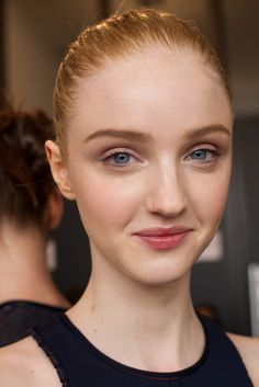 Pretty makeup. | Calvin Klein Collection Spring 2015 | Ready-to-Wear Collection | Style.com
