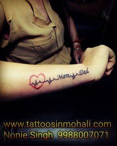 There are so many Maa Paa tattoo designs out there that it is hard to pick up the best design. So we have selected 10 best tattoos that you can dedicate to your Parents. Mom Dad Tattoo with Heartbeat tattoo idea is a must try. Rip Grandpa Tattoo, Grandma Tattoos, Brother Memorial Tattoo, Memorial Tattoo Quotes, Mom Tattoos For Guys, Brother Tattoos, Mom Dad Tattoo Designs, Marriage Tattoos, Parent Tattoos