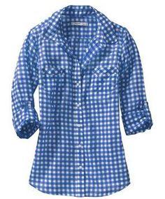 [Blue gingham shirt - Old Navy]
