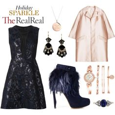 Holiday Sparkle With The RealReal: Contest Entry by leiastyle on Polyvore featuring polyvore, fashion, style, Yigal Azrouël, ADAM, Nicholas Kirkwood, Anne Klein and Kate Spade