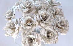 Book Print Roses