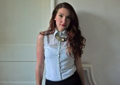 The Peppermint Store: DIY gallery -fashion Long sleeve shirt to sleeveless