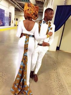 Couple in White and Ankara