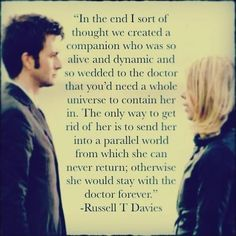 Doctor who - the tenth doctor and rose tyler - russell t. Rose Tyler, Serie Doctor, Rose And The Doctor, Doctor Who Rose, 10th Doctor, Tenth Doctor Quotes, Out Of Touch, Don't Blink, Time Lords