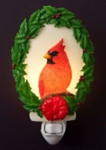 Amazon.com: Red Cardinal Wreath Night Light - Ibis & Orchid Designs Winter Collection: Home Improvement
