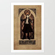Dracula Nouveau  Art Print by Hallowette - $15.00
