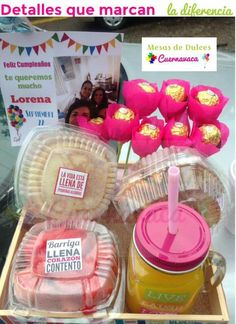 Breakfast On The Go, Candy Boxes, Mother And Father, Special Occasion, Birthday Gifts, Balloons, Birthdays, Lunch Box, Basket