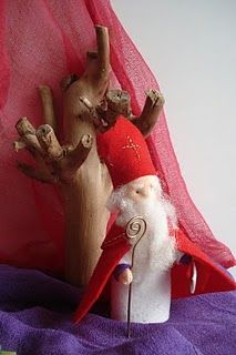 Next year, I want to make a little St. Nicholas character similar to this one.