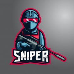 Silent blue sniper e-sport logo premium vector sports team logos, e sports, The Sniper, Ninja Logo, Game Logo Design, Esports Logo, Professional Logo Design, How To Make Logo, Gaming Wallpapers, Cs Go, Logo Design Inspiration