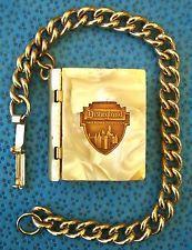 1958 Disney Disneyland Souvenir Charm Bracelet Miniature Postcard Photo Book