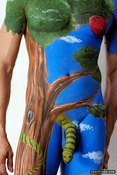 body painting - male / snake