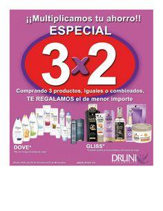 ¡¡En Druni multiplican nuestro ahorro!! 3x2 http://www.ofertia.com/tiendas/druni