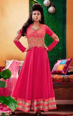 Picture of Adorable Deep Pink Ready Made Salwar Kameez