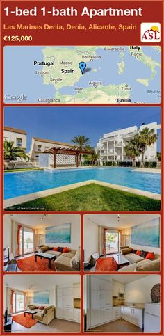 1-bed 1-bath Apartment in Las Marinas Denia, Denia, Alicante, Spain ►€125,000 #PropertyForSaleInSpain