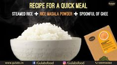 We've got a quick meal plan solution for you!  #gulabs #gulabsmasala #masala #food #foodie #love #quick #quickmeal