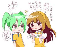 イナGoラクガキ☆フェイ&きなこ | あゆりっく       Fei Rune and Nanobana Kinako