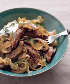 Beef Stroganoff With Yogurt and Dill Recipe from realsimple.com. #myplate #dairy #protein