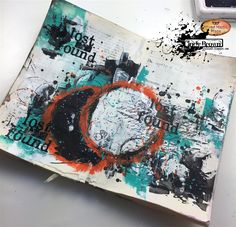Hello everyone.    Today I would like to show you an art journal spread that I made using great Impasto Paints from Finnabair.    Unfortu...