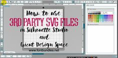 One of the great things with Silhouette Studio Designer edition and Cricut Design Space, is you can use 3rd party SVG files in both.