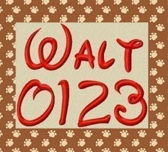 Walt Embroidery Font in 4 Sizes by 8clawsandapaw on Etsy