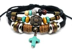 4030134 Christian Cross Leather Scripture Bible Bracelet Religious Christian Leather Bracelets. $8.99. Beautiful Christian Design. Handmade. Fashionable. Includes Beautiful Bow Tie Satin Lined Gift Box. Variable Sizes for Comfort Fit. Save 55%!