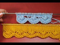 №162 Красивый наборный край спицами (улучшенный, упрощенный) Волнистая кромка спицами (фестонами) - YouTube Knitting Patterns Free Dog, Knitting Paterns, Knitting Stitches, Knitting Designs, Knitting Needles, Baby Knitting, Crochet Patterns, Pintura Country, Rope Crafts