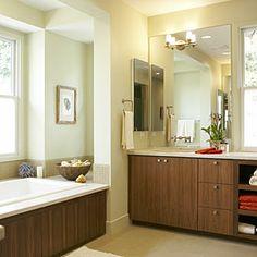 A distinct interior in Menlo Park, Calif. | Master bath: the spa escape | Sunset.com