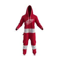 Detroit Red Wings NHL Onesie Pajamas