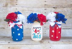 4th Of July July 4th Centerpiece 4th Of July Decor July 4th   Etsy