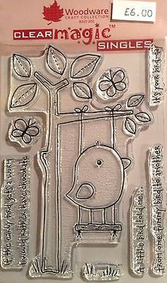 Woodware-Clear-Magic-Funny-Bird-stamp-set-FRS263