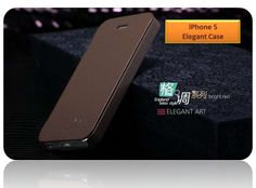 Elegant Leather Case For Apple iphone 5 with Screen Protector and Cleaning Cloth - High Quality Case