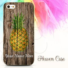 (Custom Your Name) Pineapple on Wood available For Iphone 4/4s/5/5s/5c case , Samsung Galaxy S3/S4/S5/S3 mini/S4 Mini/Note 2/Note 3 case , HTC One X and HTC One M7 case