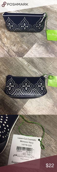 Vera Bradley nwt laser cut makeup bag navy case Vera Bradley nwt laser cut makeup bag navy case Vera Bradley Bags