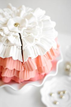 Sprinkle Bakes: Strawberry Shindig Ruffle Cake for a Special Birthday