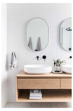 Modern Bathroom Design, Bathroom Interior Design, Decor Interior Design, Modern Interior, Minimal Bathroom, Bath Design, Bathroom Designs, Modern Bathroom Cabinets, Modern Sink